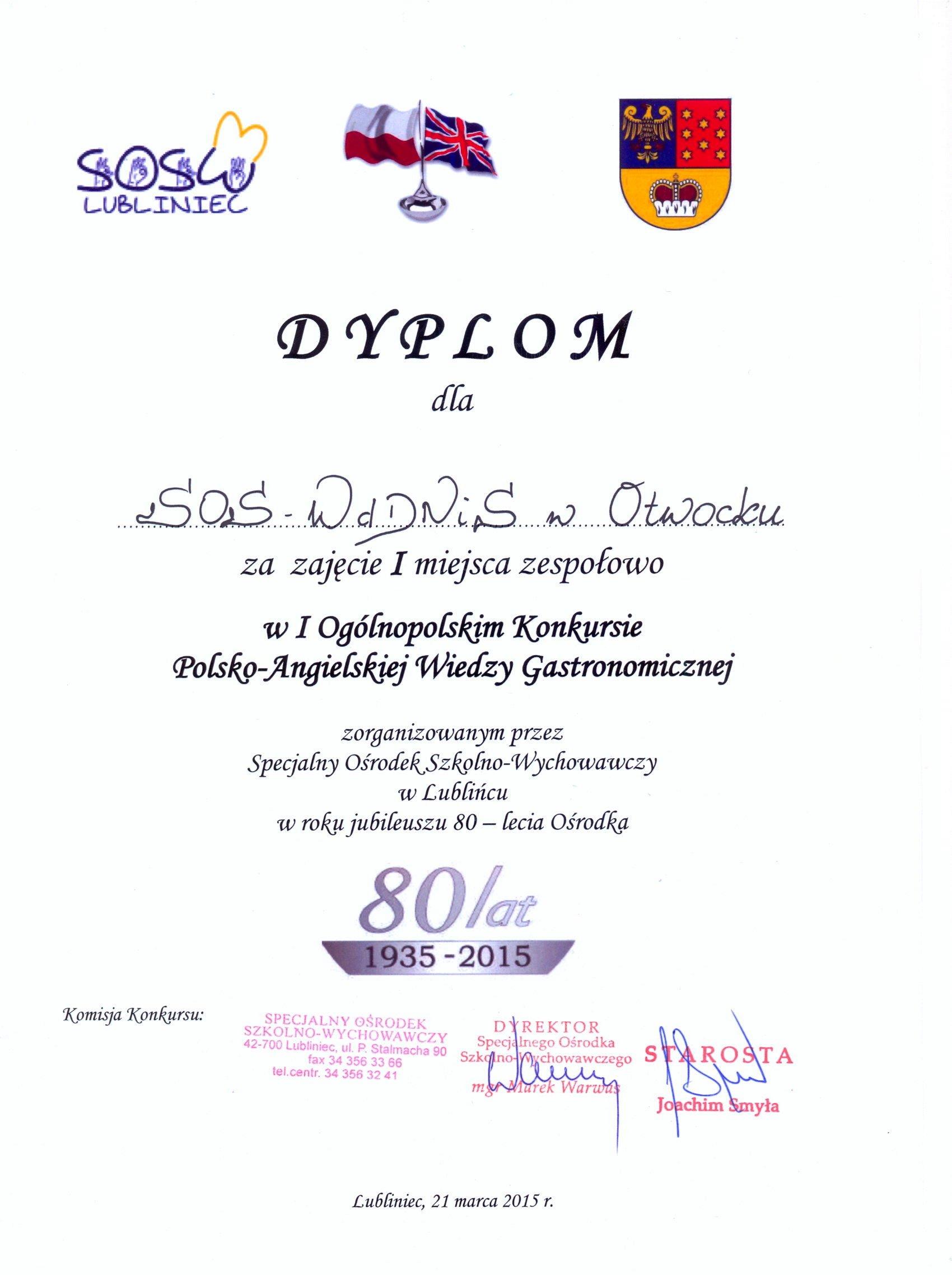 Dyplom OSW